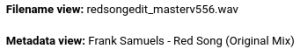 Filename vs music metadata